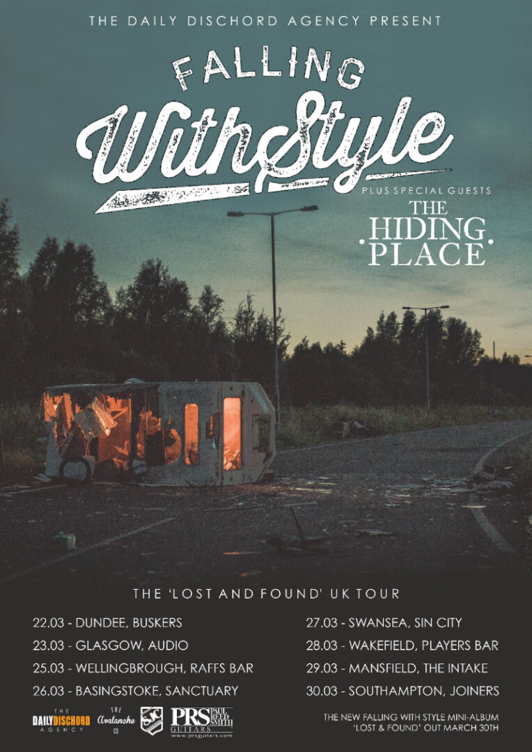 Falling with Style - 2015 tour - poster