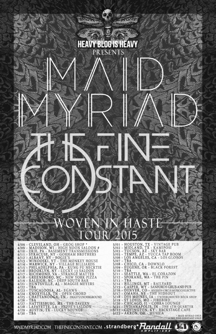 Maid Myriad - Woven In Haste U.S. Tour - Poster - 2015