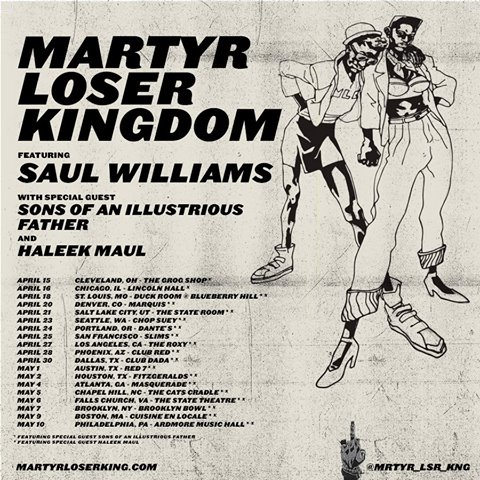 Saul Williams - Martyr Loser Kingdom Tour - Poster - 2015