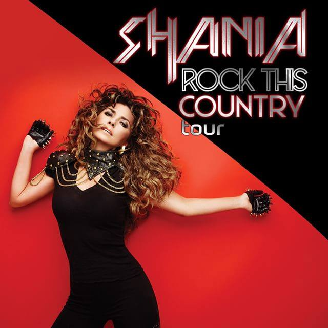 Shania Twain - Rock This Country Tour - poster