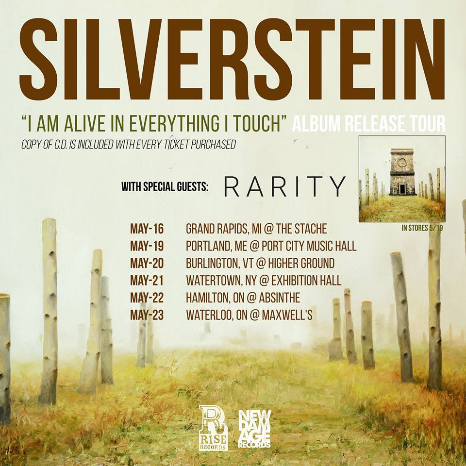 Silverstein - I Am Alive In Everything I Touch Album Release Tour - poster