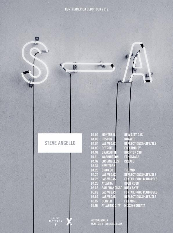 Steve Angello - North American Club Tour 2015 - poster