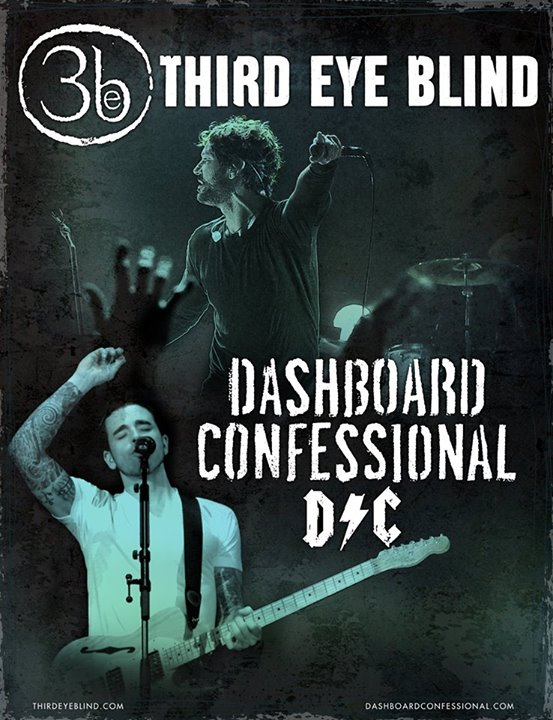 Third Eye Blind - North American Tour with Dashboard Confessional - poster