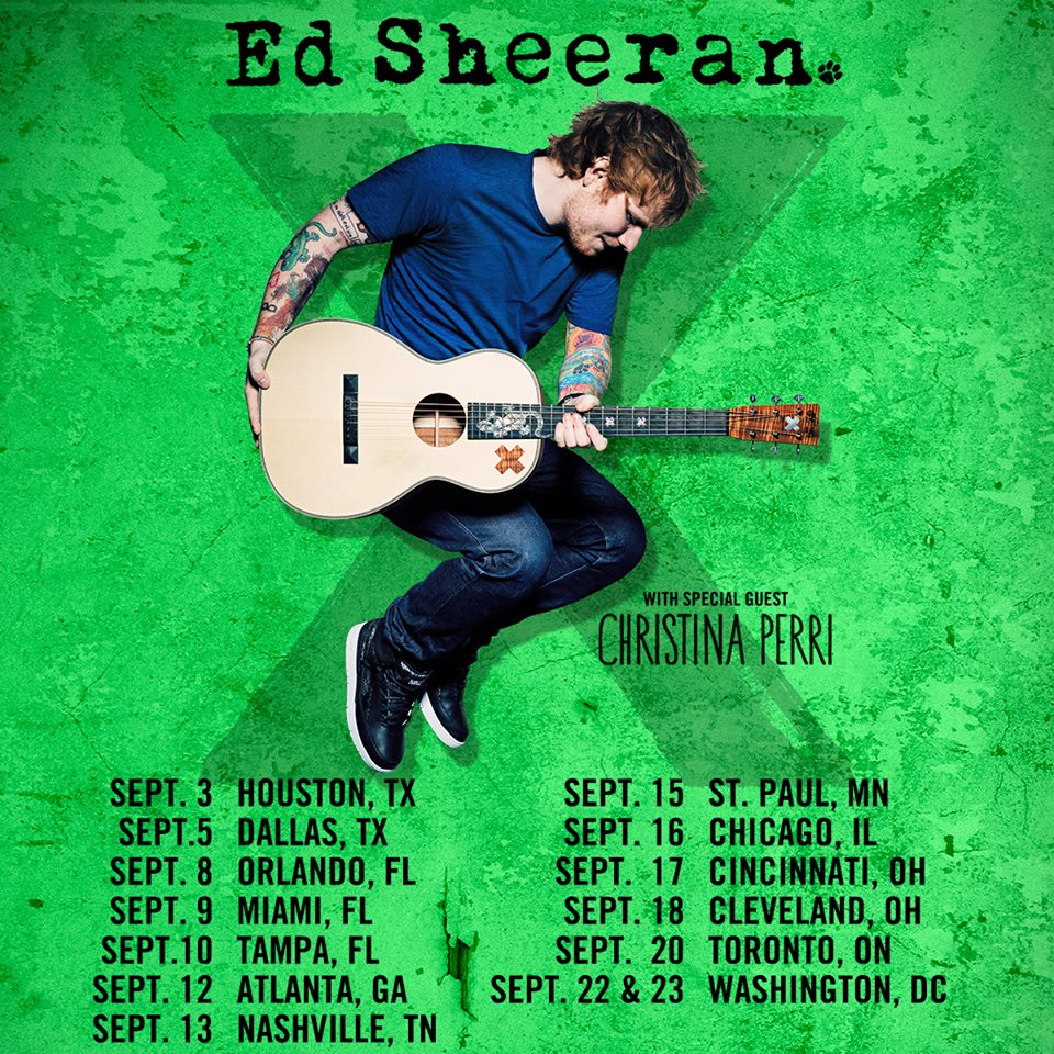 Ed Sheeran - North American Fall Tour with Christina Perri - poster