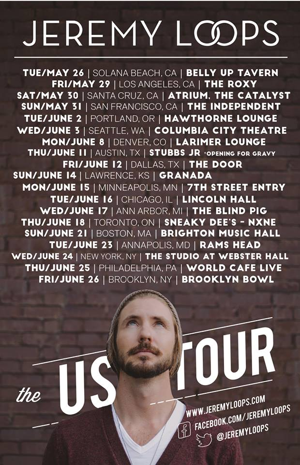 Jeremy Loops - U.S. Summer 2015 Tour - poster