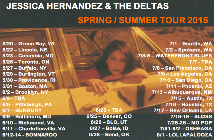 Jessica-Hernandez-And-The-Deltas-Summer-Tour-poster