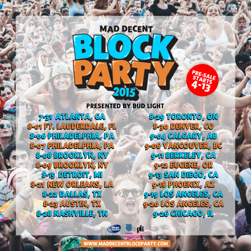 Mad Decent - Block Party 2015 - poster