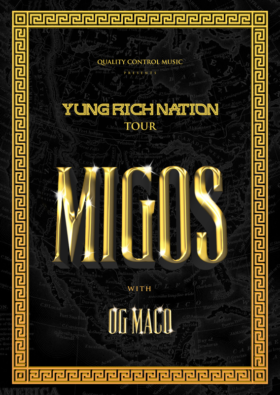 Migos - Yung Rich Nation tour - poster