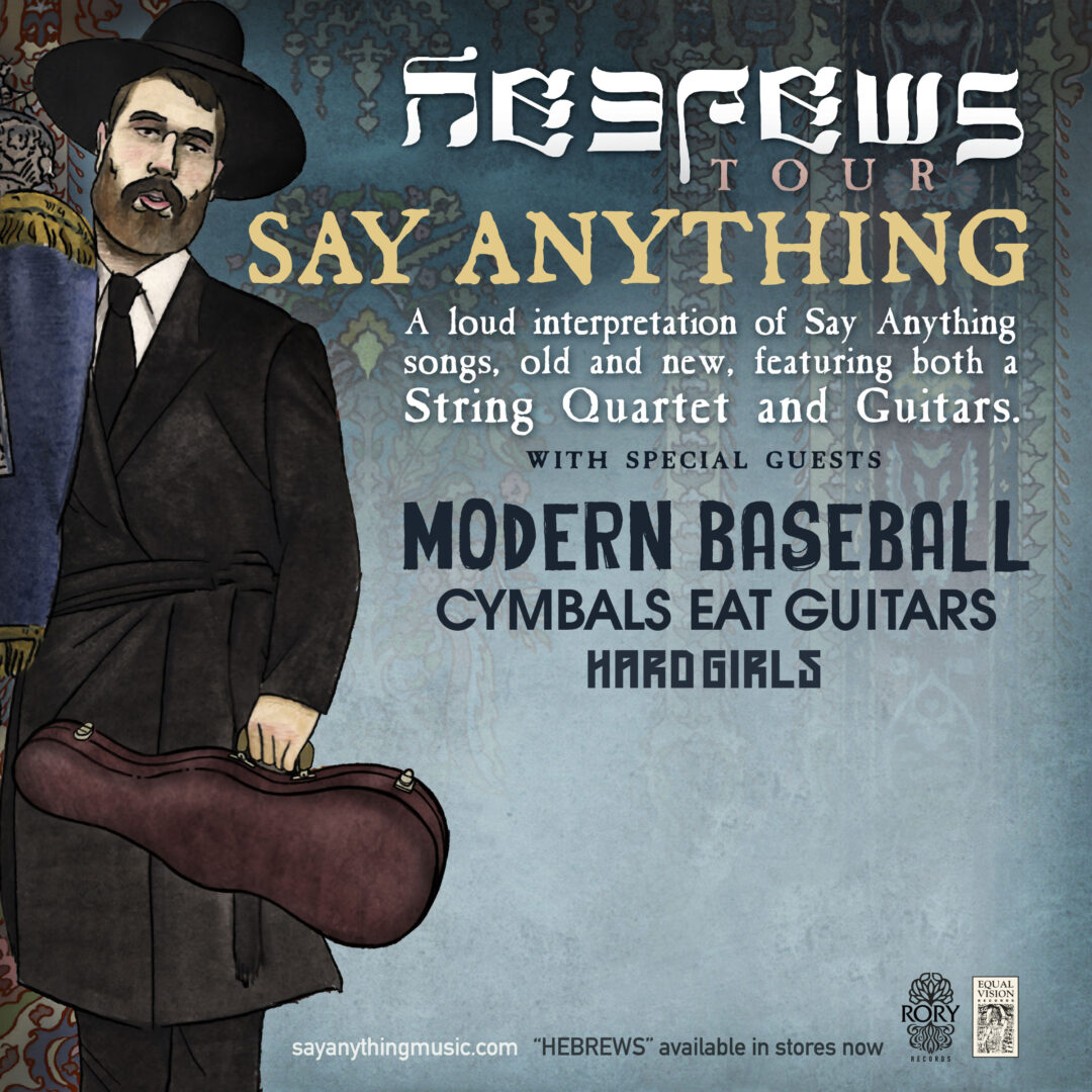 Say Anything - Hebrews U.S. Tour - Poster - 2015
