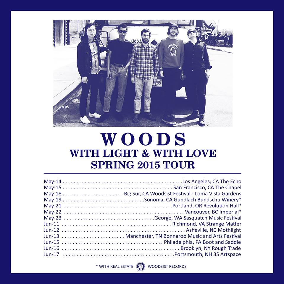 Woods - North American Spring 2015 Tour - poster