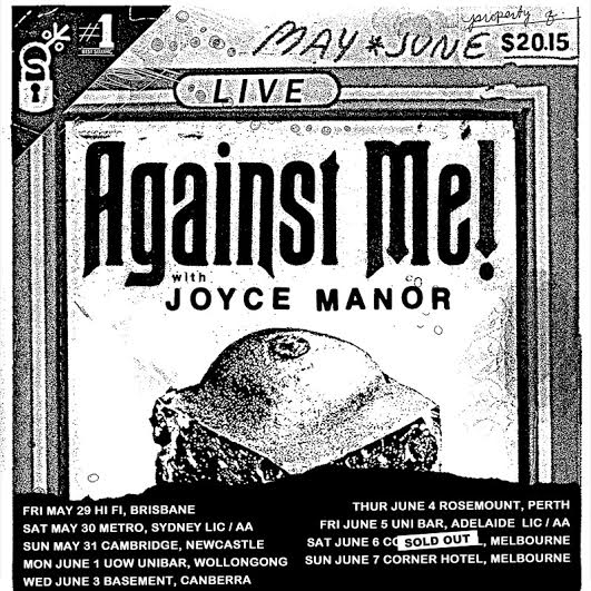 Against Me! - Australian Summer Tour 2015 - poster