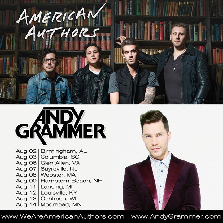 American Authors - Coheadlining U.S. Tour With Andy Grammer - poster