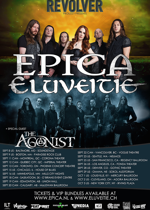 Epica - Coheadlining North American Tour With Eluveitie - poster