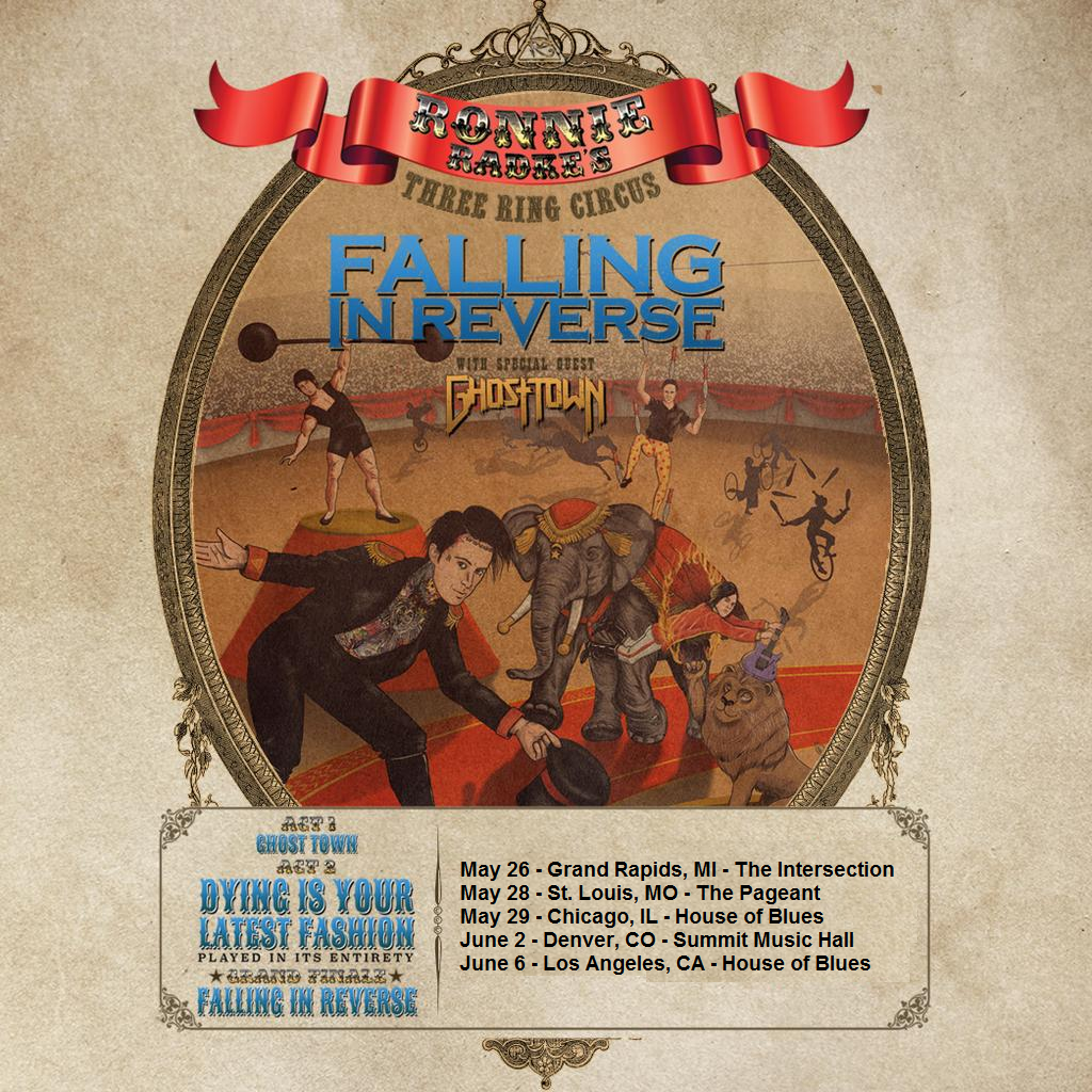Ronnie Radke's Three Ring Circus feat. Falling In Reverse – Ticket Giveaway