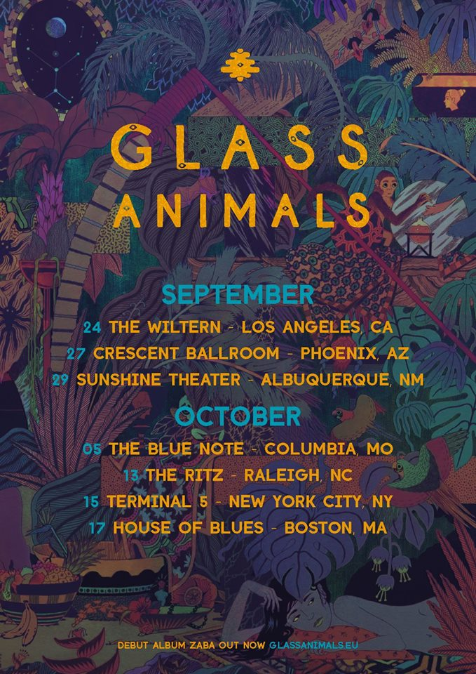 Glass-Animals-Fall-U.S.-Tour-poster