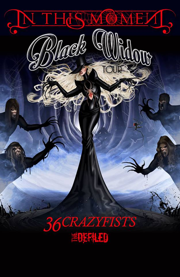 In This Moment - The Black Widow Tour - poster