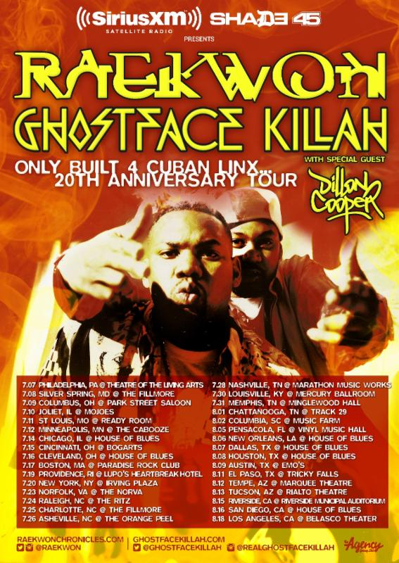 Raekwon - Only Built 4 Cuban Linx...20th Anniversary Tour - poster