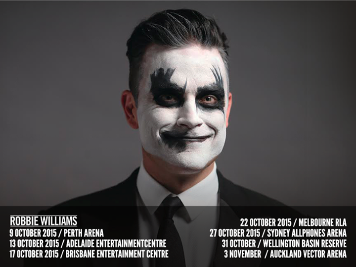 Robbie Williams - Australian Tour Poster - 2015
