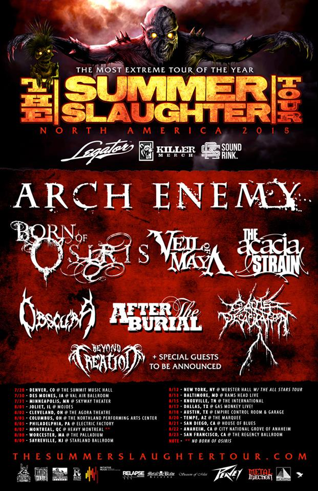 Summer Slaughter Tour 2015 - poster