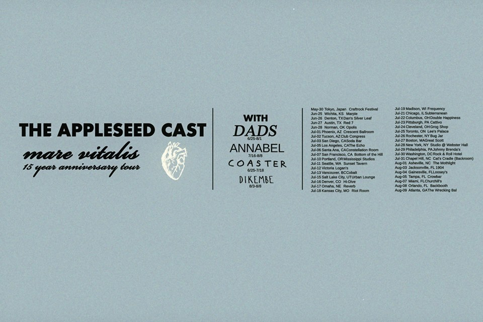 The Appleseed Cast - Summer North American Tour Poster - 2015