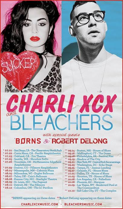 Charli XCX - Second Leg Of Charli And Jack Do America Tour With Bleachers - poster