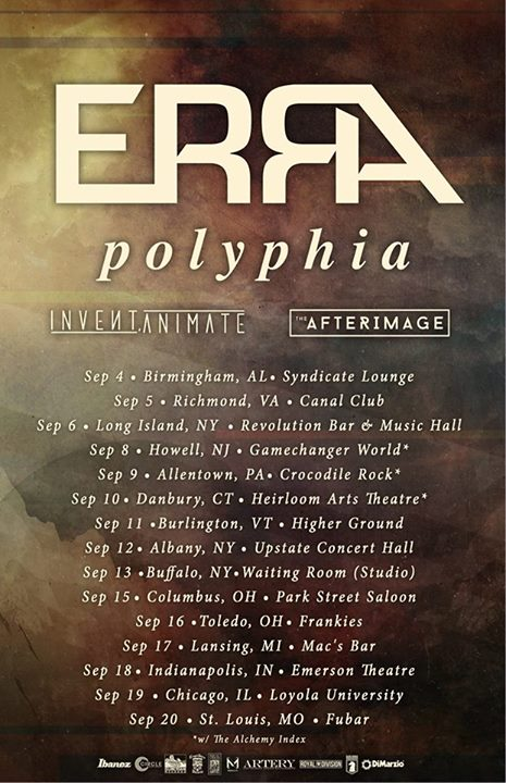 ERRA - North American Tour - Poster - 2015