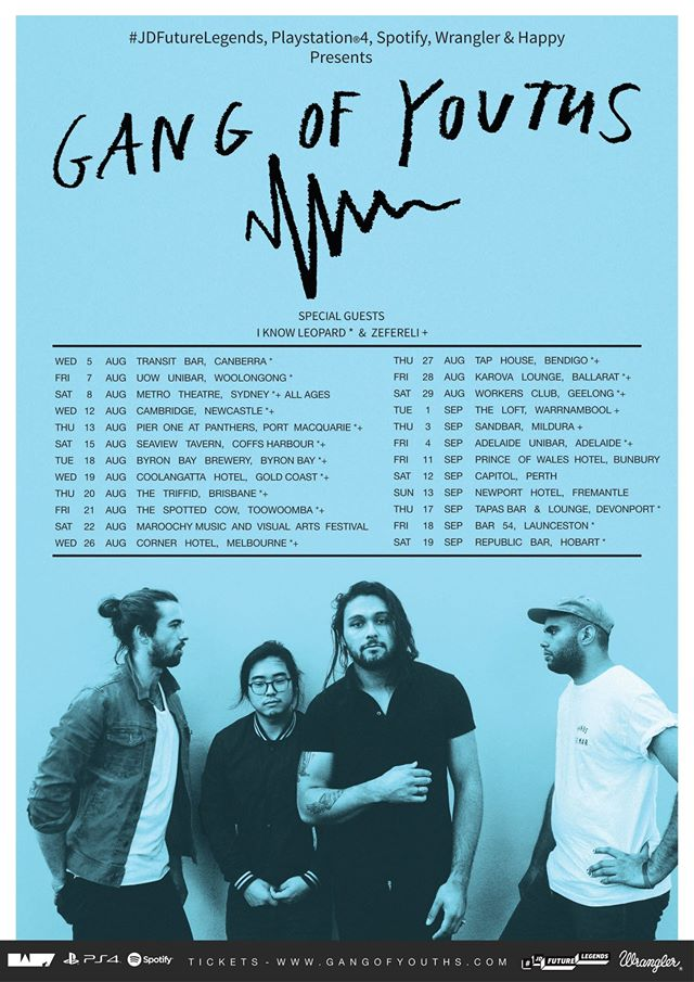 Gang of Youth Australian 2015 tour