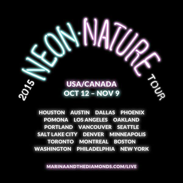 Marina and the Diamonds - Neon Nature Tour - poster