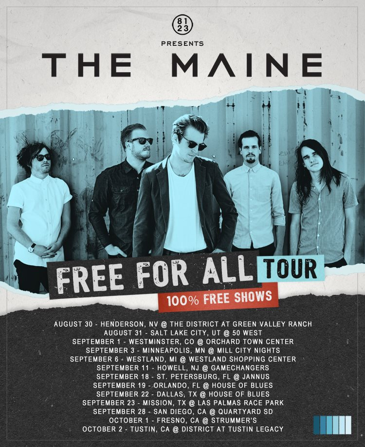 The Maine - Free For All Tour