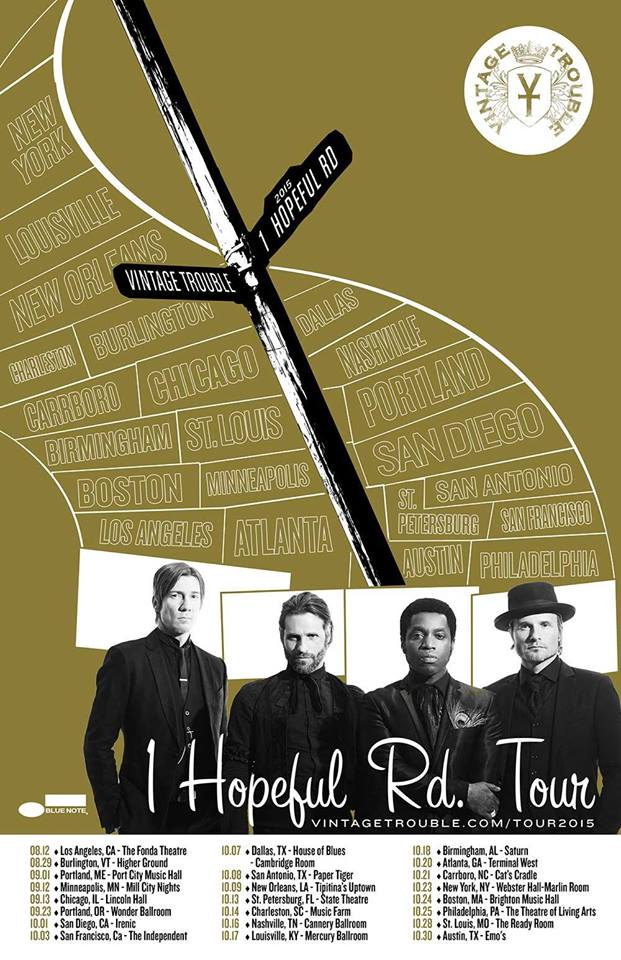 Vintage Trouble - North American 2015 Tour