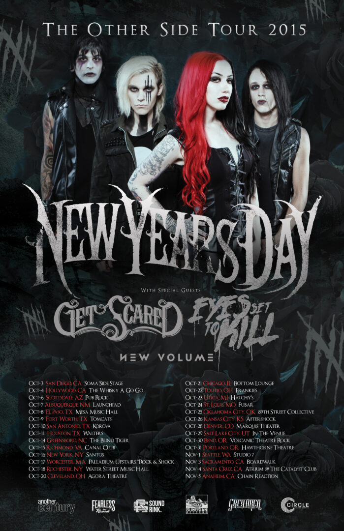 New Years Day - The Other Side Tour - poster