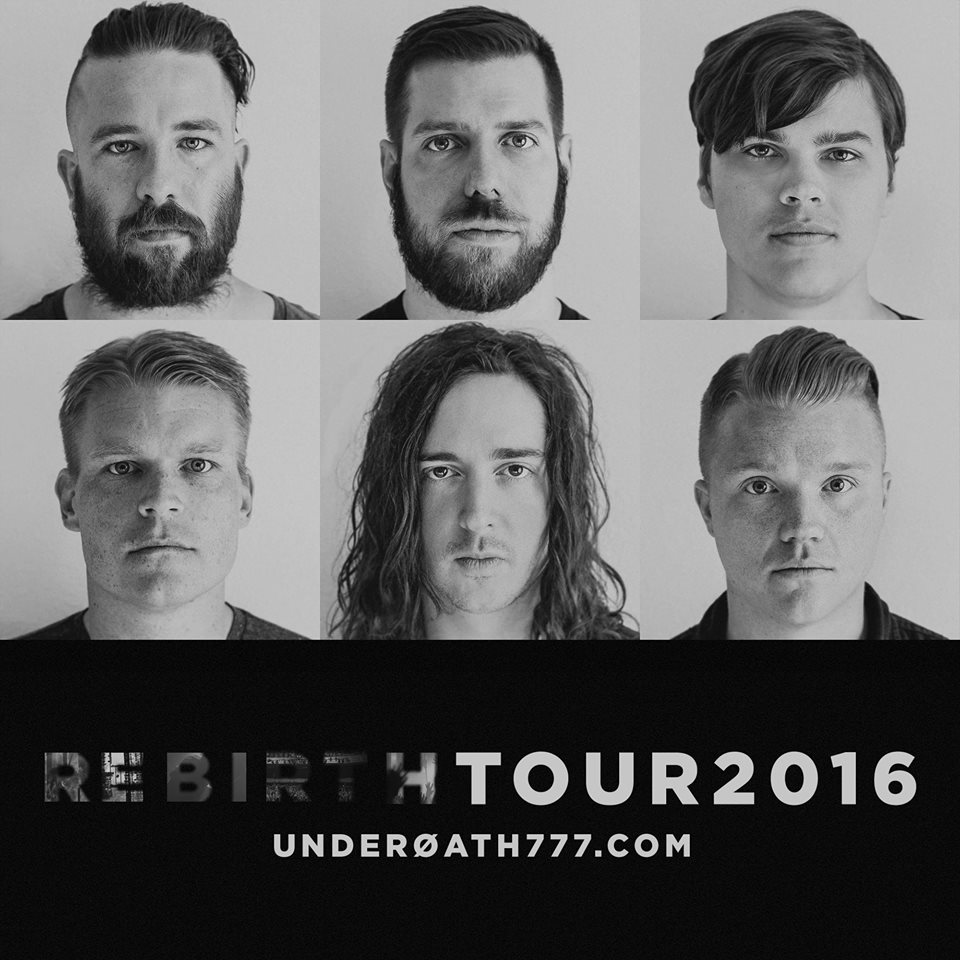 Underoath - Rebirth Tour 2016 - poster