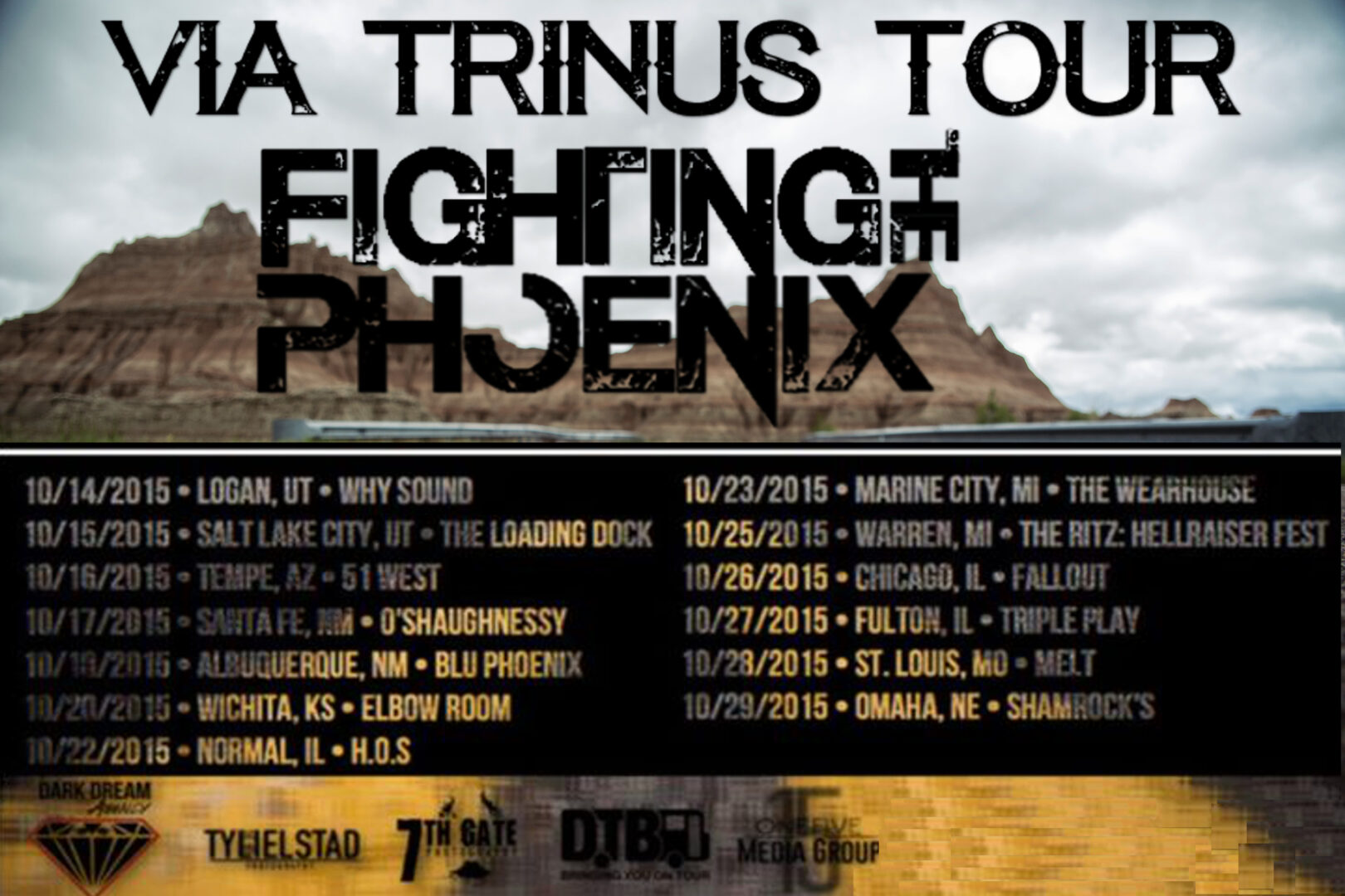 Fighting The Phoenix - Via Trinus Tour - poster