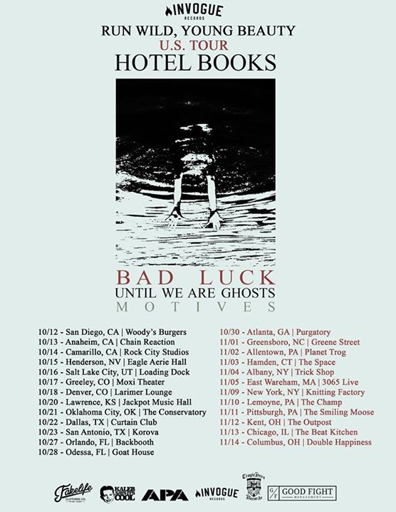 Hotel Books - Run Wild, Young Beauty - 2015 Tour Poster