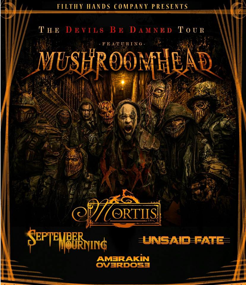 Mushroomhead - The Devils Be Damned Tour - poster