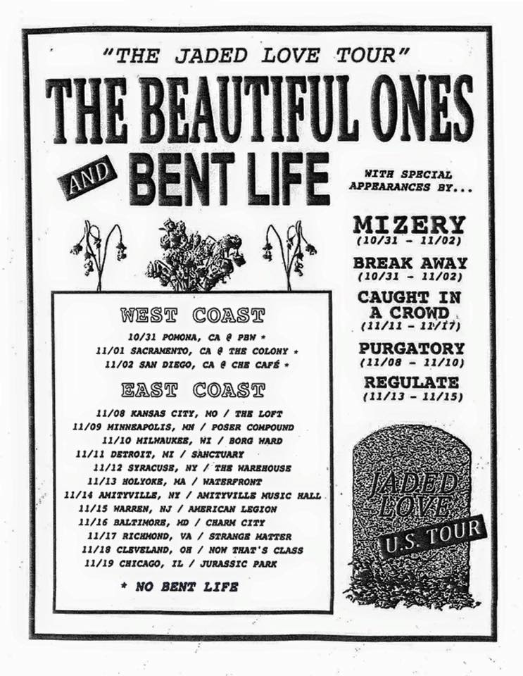 The Beautiful Ones and Bent Life - Jaded Love Tour - 2015 Tour Poster