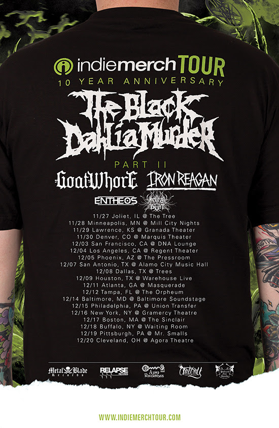 The Black Dahlia Muder - Second Leg Of The IndieMerch Tour - poster