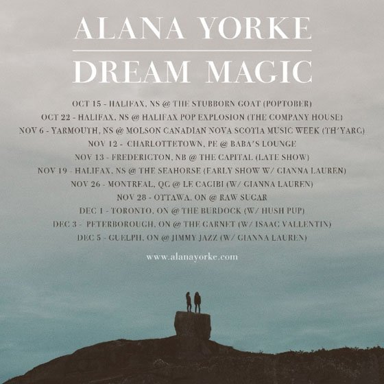 Alana Yorke - Dream Magic Tour - poster