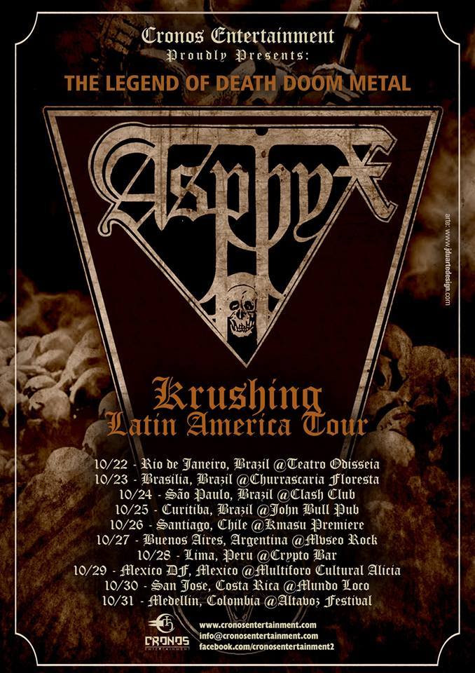 Asphyx - 2015 South American Tour - poster