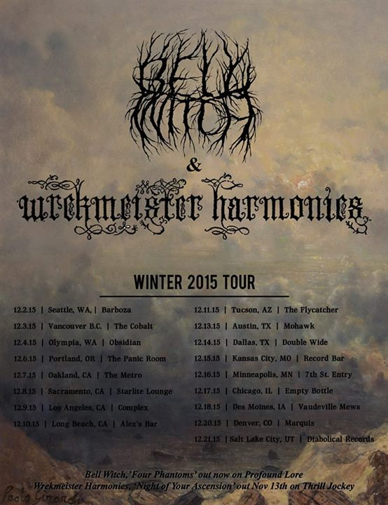 Bell Witch - Winter 2015 North American Tour - poster