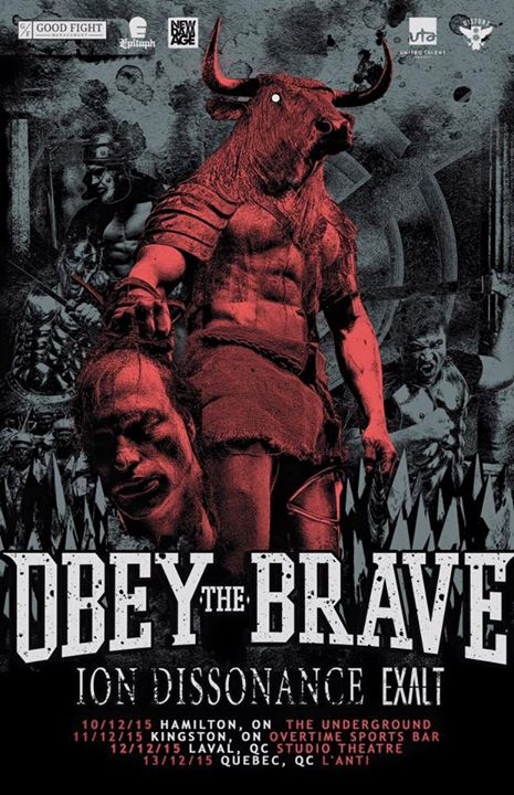 Obey The Brave - Canadian Tour - poster