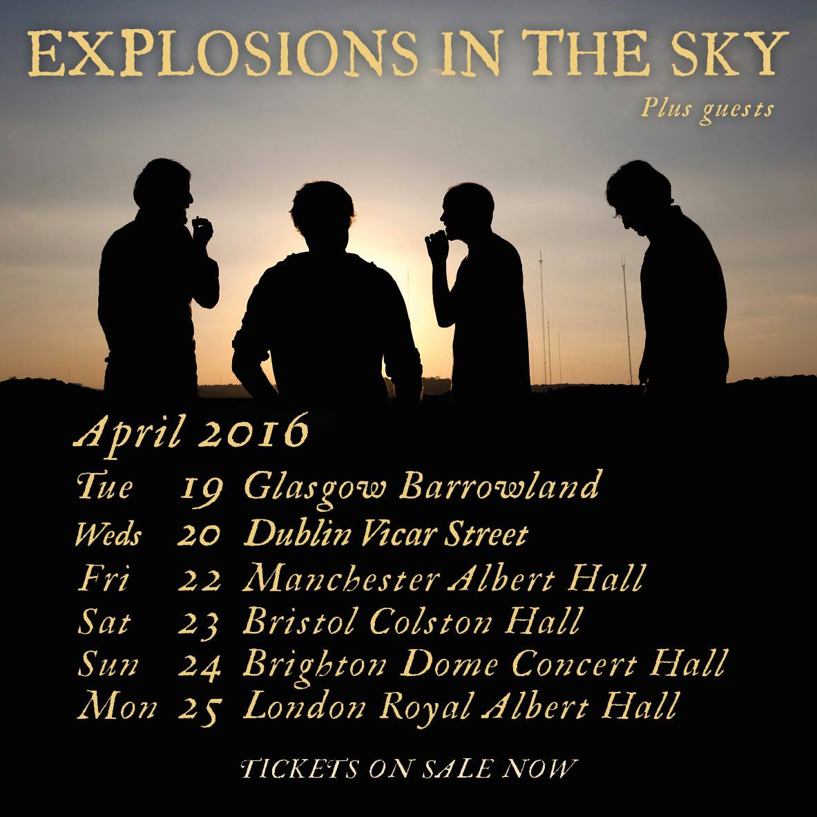 Explosions in the Sky - UK and Ireland April Tour - 2016 Tour Poster
