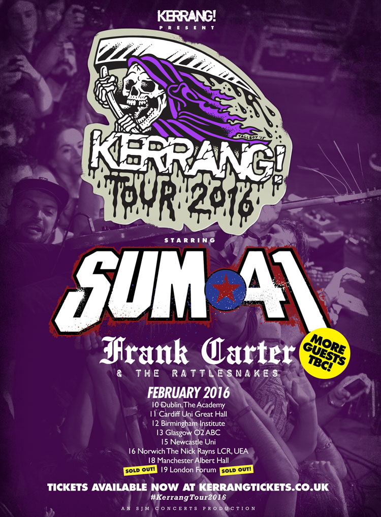 Frank Carter and The Rattlesnakes - Kerrang Tour - poster