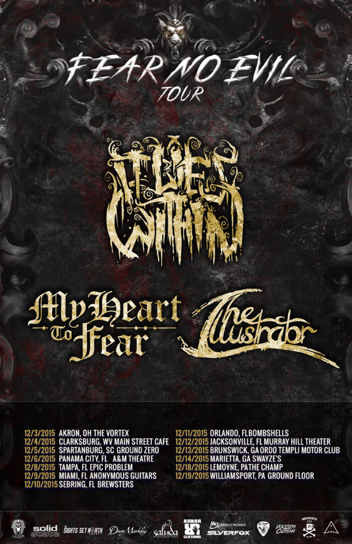 It Lies Within - Fear No Evil December Tour - 2015 Tour Poster