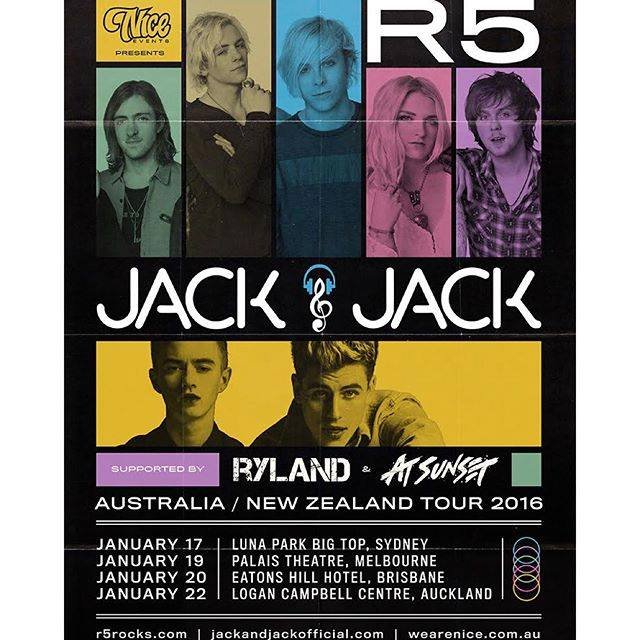 R5 - Sometime Last Night Tour - poster
