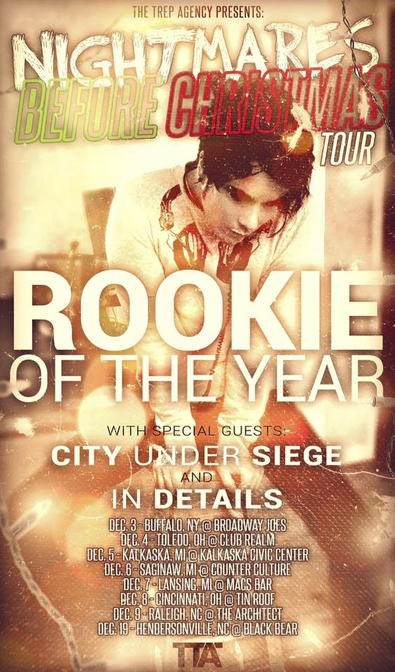 Rookie of the Year - Nightmares Before Christmas Tour - poster