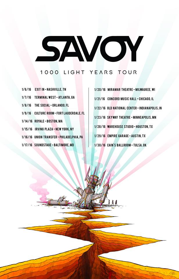 Savoy - 1000 Light Years Tour - poster