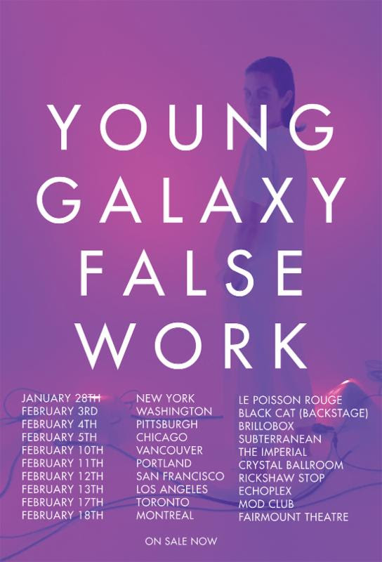 Young Galaxy - Expanded North American Tour - poster