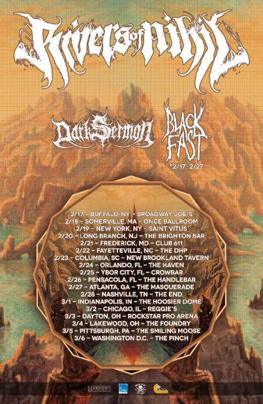 Rivers of Nihil-2016 US Tour-poster
