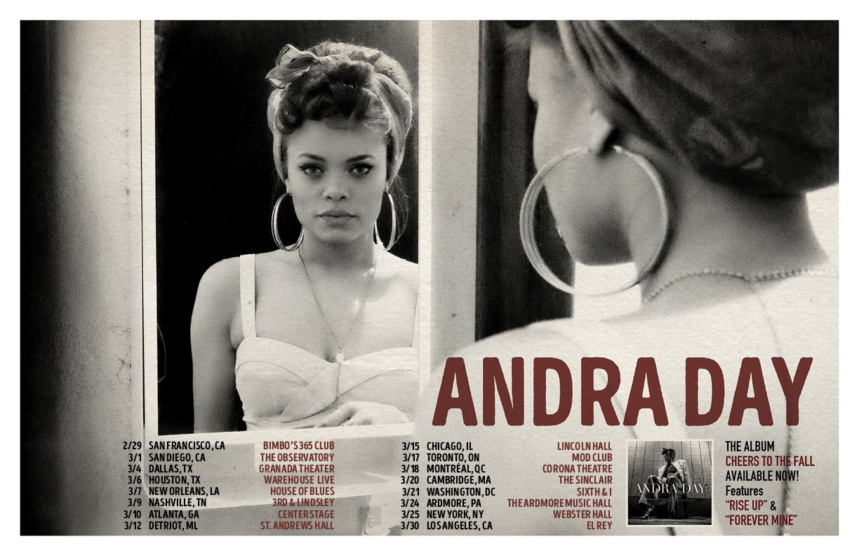 Andra Day - 2016 North American Tour - 2016 Tour Poster